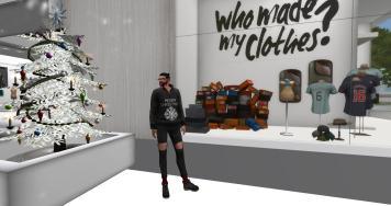 Ethan Christmas - Ethan Explores Clothing Window